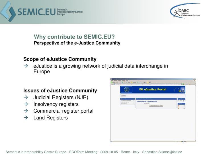 Why contribute to SEMIC.EU?