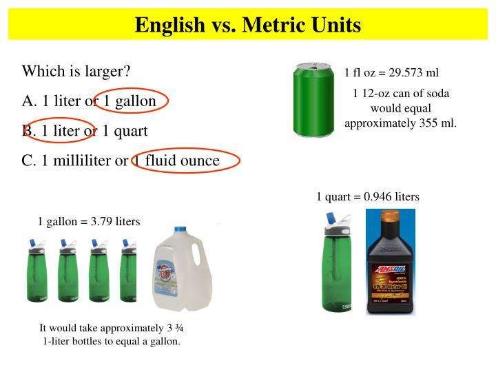 1 fl oz = 29.573 ml