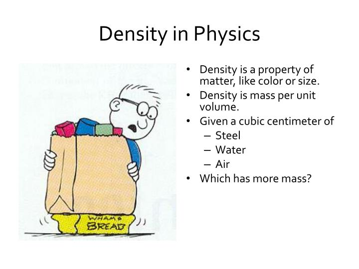 Density in Physics
