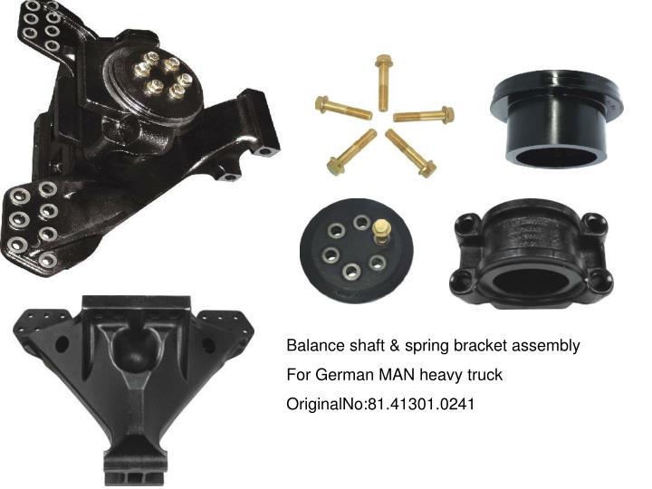 Balance shaft & spring bracket assembly