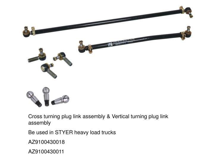 Cross turning plug link assembly & Vertical turning plug link assembly