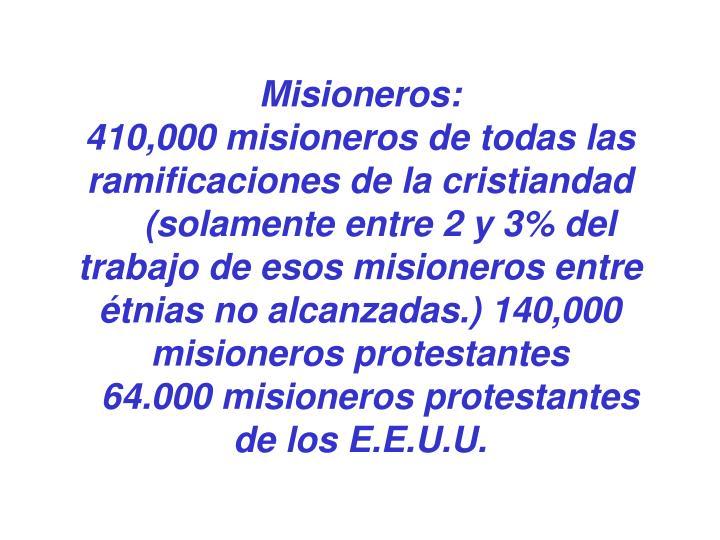 Misioneros: