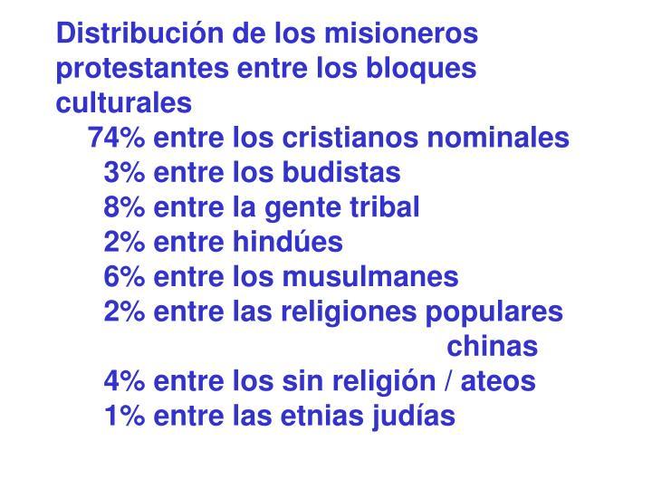 Distribución de los misioneros