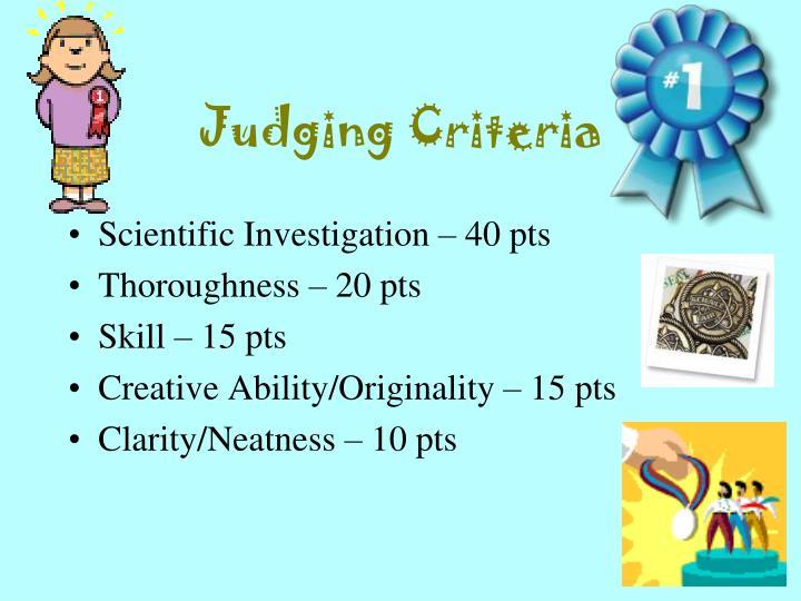 Judging Criteria