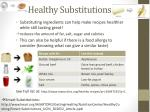 h ealthy substitutions