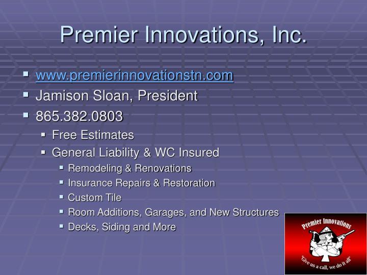 Premier Innovations, Inc.