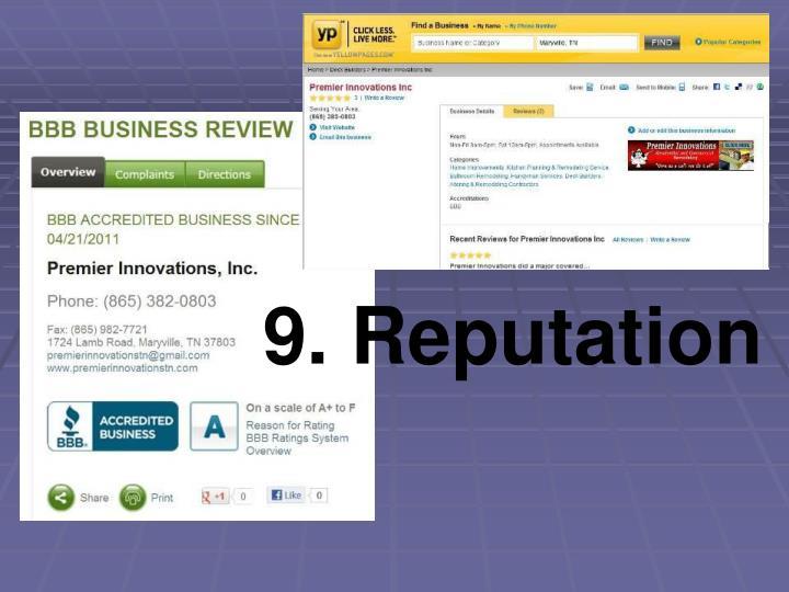9. Reputation