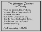 the witnesses continue to testify11