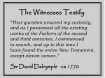 the witnesses testify3