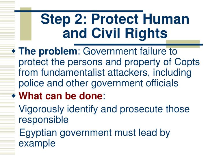 Step 2: Protect Human and Civil Rights