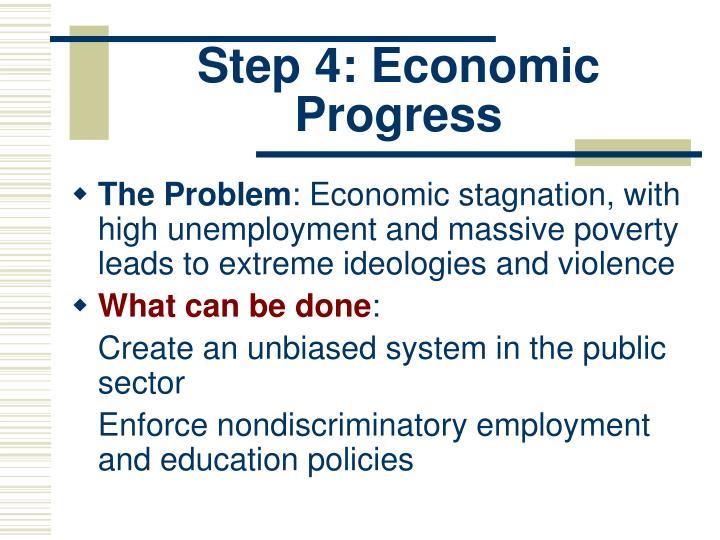 Step 4: Economic Progress
