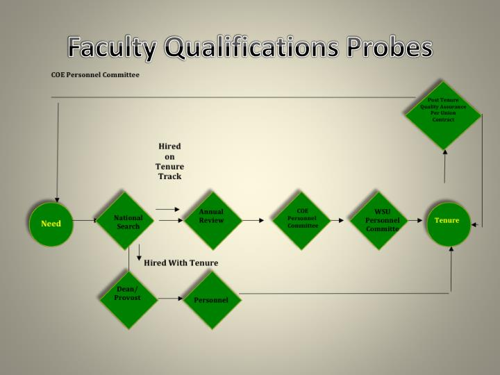 Faculty Qualifications Probes