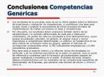 conclusiones competencias gen ricas