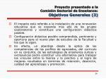 proyecto presentado a la comisi n sectorial de ense anza objetivos generales 3