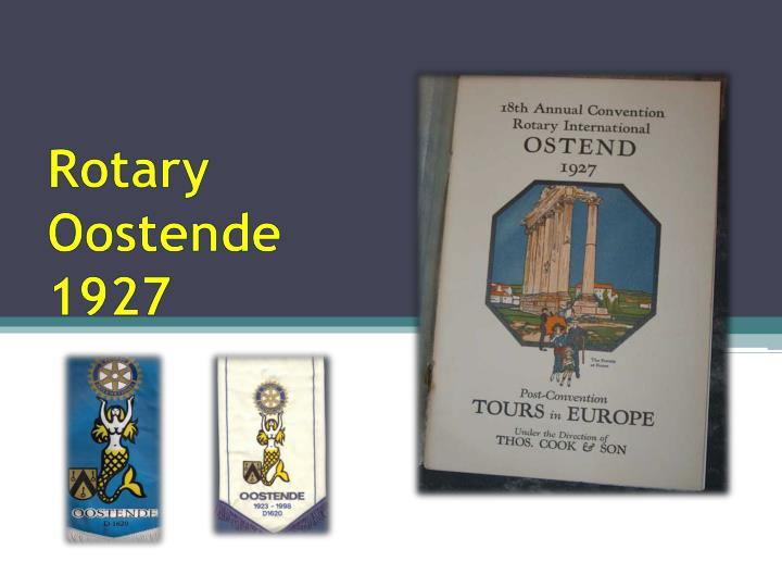 rotary oostende 1927