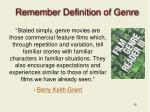 remember definition of genre