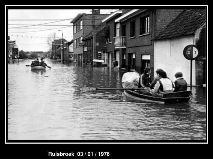 Ruisbroek  03 / 01 / 1976