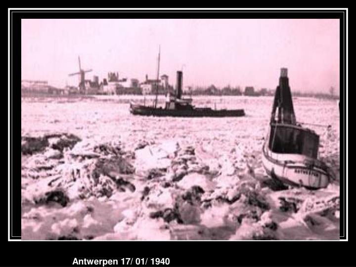 Antwerpen 17/ 01/ 1940