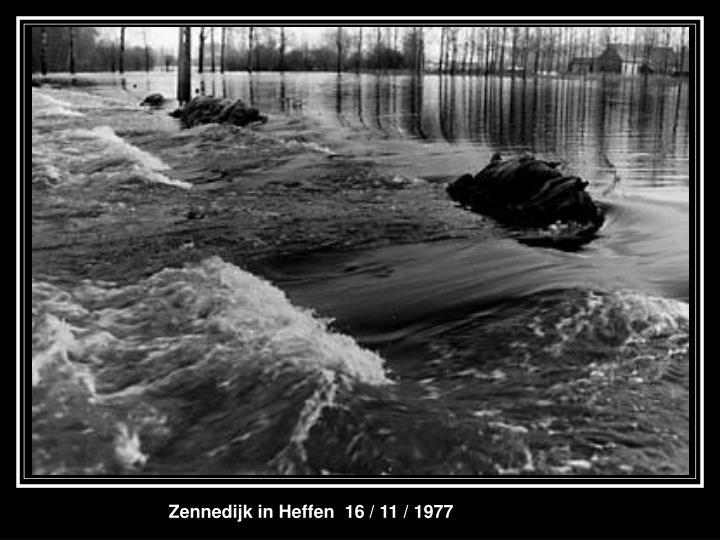 Zennedijk in Heffen  16 / 11 / 1977