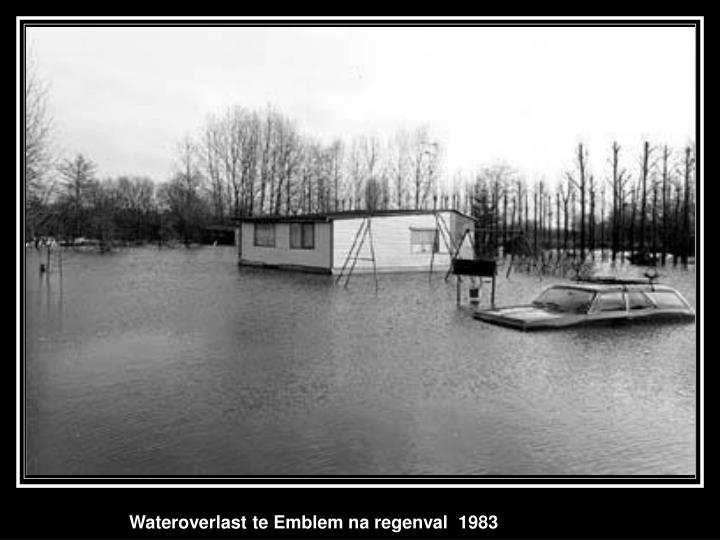 Wateroverlast te Emblem na regenval  1983