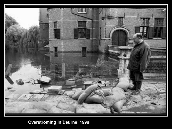 Overstroming in Deurne  1998