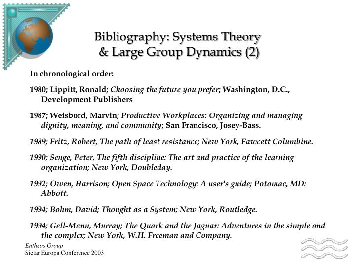 Bibliography: Systems Theory