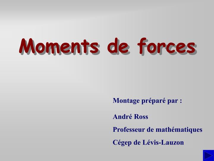 moments de forces