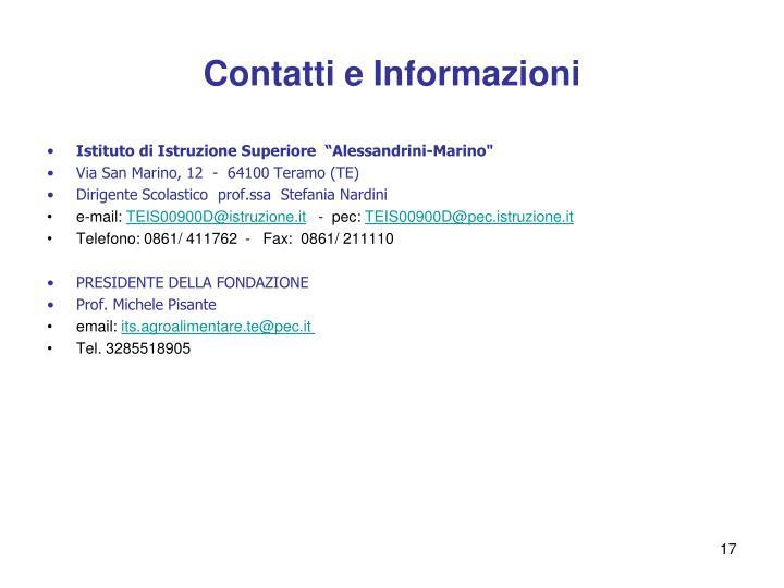 Contatti e Informazioni