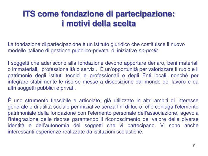 ITS come fondazione di partecipazione: