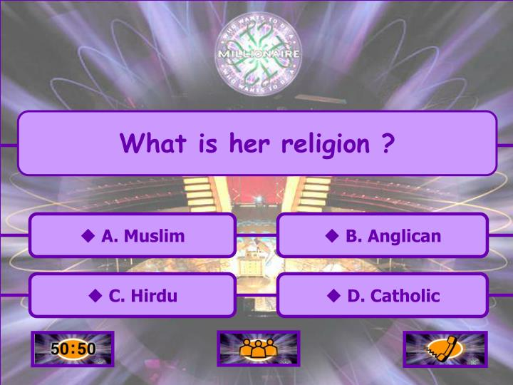 What is her religion ?