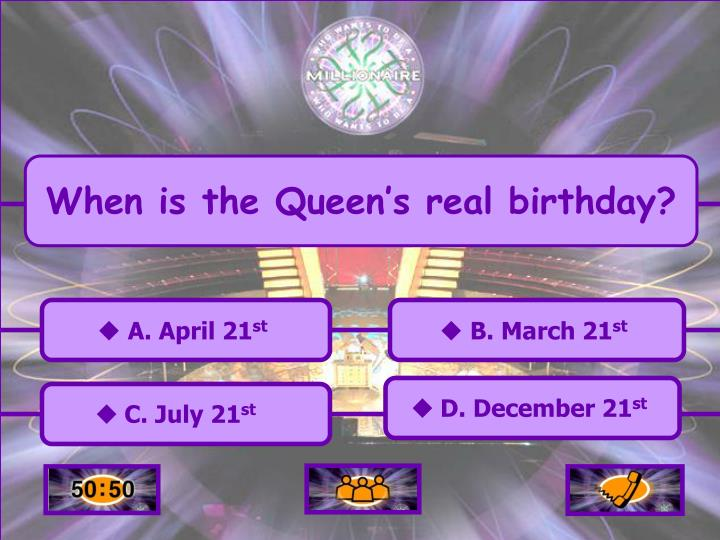 When is the Queen's real birthday?