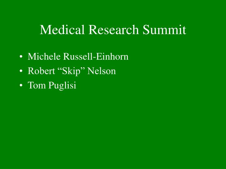 Medical research summit1