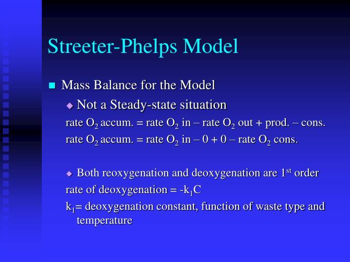 Streeter-Phelps Model