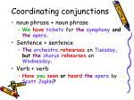 coordinating conjunctions2