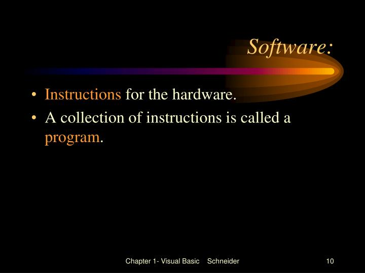 Software: