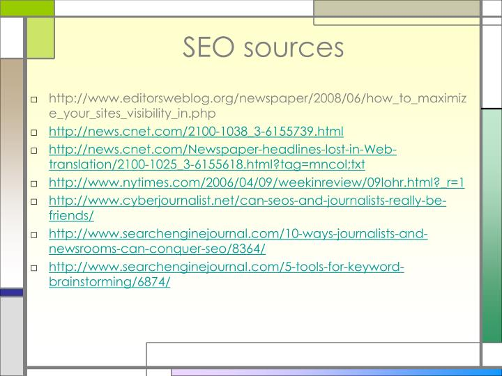 SEO sources