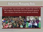 behavior managing risk3
