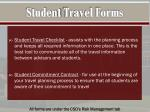 student travel forms1