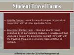 student travel forms2