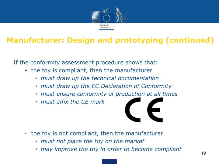 Manufacturer: Design and prototyping (continued)