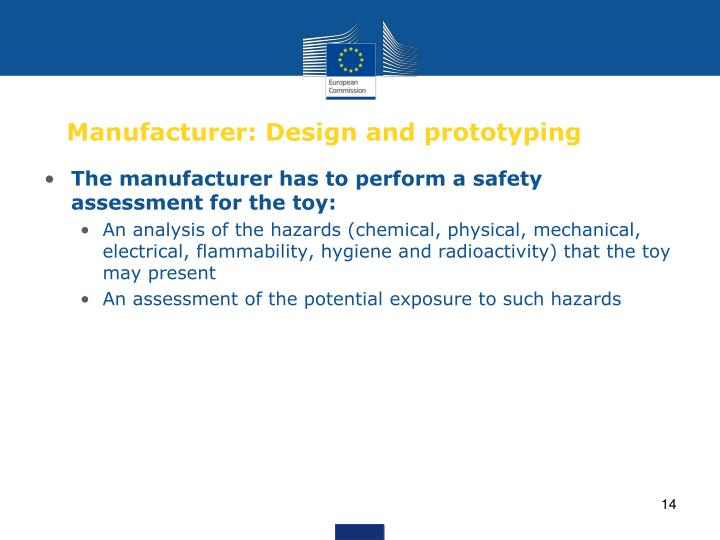 Manufacturer: Design and prototyping