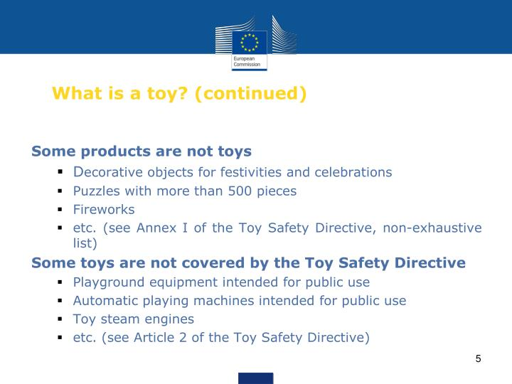 What is a toy? (continued)