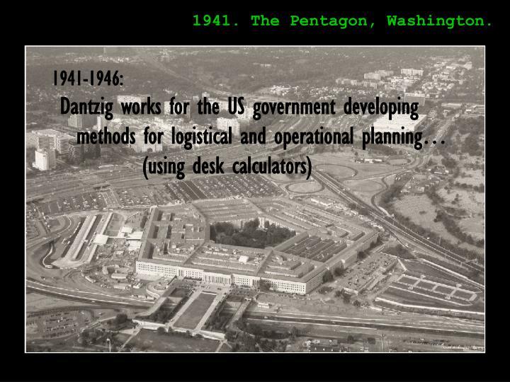 1941. The Pentagon, Washington.