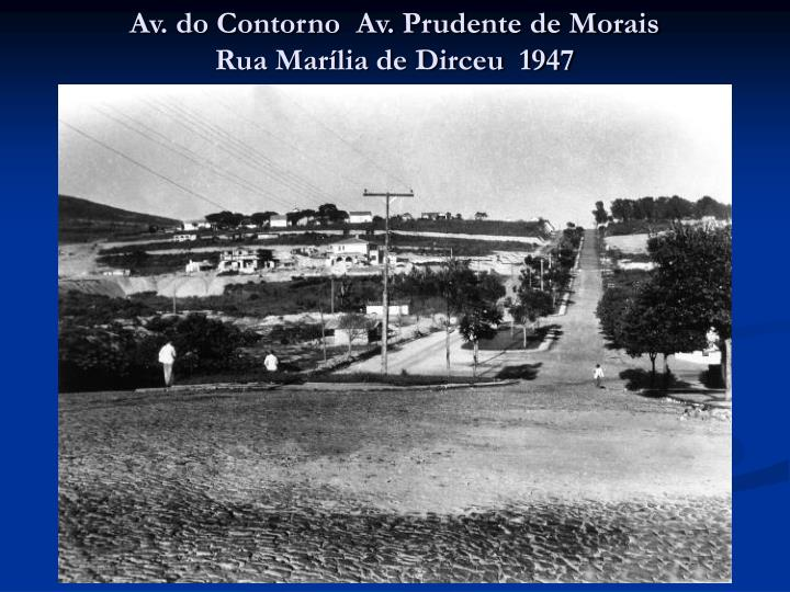 Av. do Contorno  Av. Prudente de Morais