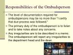 responsibilities of the ombudsperson3