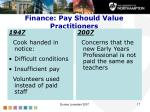 finance pay should value practitioners