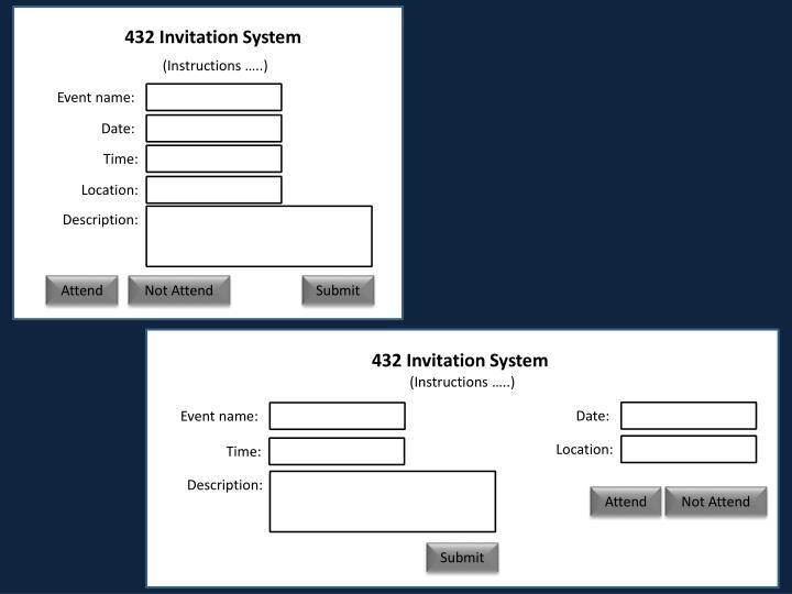 432 Invitation System