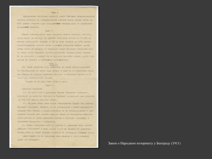 Закон о Народном позоришту у Београду (1911)
