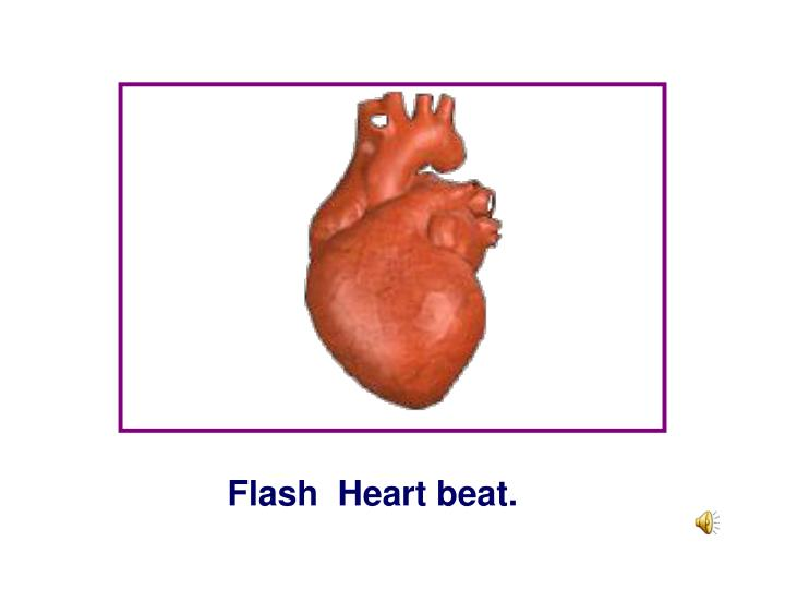 Flash  Heart beat.