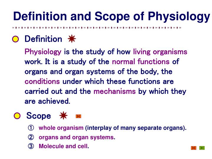 Definition and Scope of Physiology